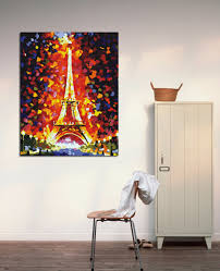 aliexpress com buy the eiffel tower fire color abstract painting