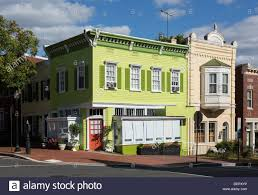 streets and old historic shop buildings in georgetown washington