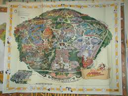 Disney Land Map 1995 Disneyland Souvenir Poster Map For A Time In The 90 U0027s U2026 Flickr