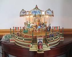 christmas carousel christmas carousel etsy
