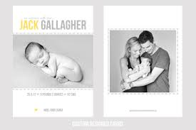 new birth announcement card louise treacy photography
