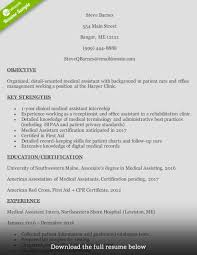 Samples Of Medical Assistant Resume by How To Write A Medical Assistant Resume With Examples
