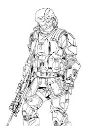 halo 3 odst coloring pages sketch coloring page