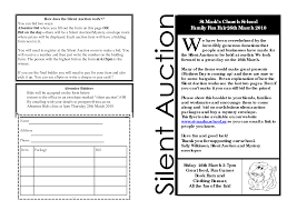 silent auction bid sheet template printable silent auction bid