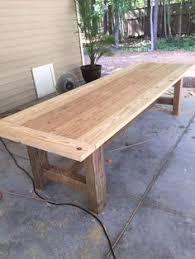 Build A Reclaimed Wood Desk by How To Build A Outdoor Dining Table Building An Outdoor Dining