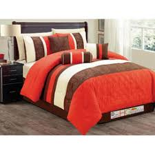 Orange And White Comforter Set Orange Comforters Sears
