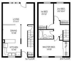 row home plans crafty inspiration duplex row house plans 8 two bedroom with den