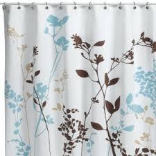 Aqua Blue Shower Curtains Blue Brown Shower Curtain Foter