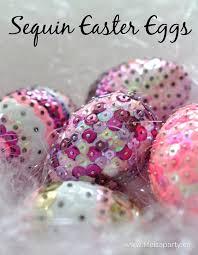 styrofoam easter eggs sequin easter eggs easy diy sequin easter eggs made from