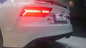 light pink audi audi rs7 w akrapovic exhaust sound youtube
