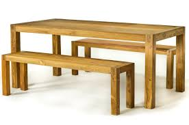 zspmed of outdoor wood table bench set