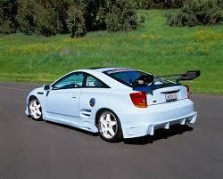 custom 2000 toyota celica 2000 toyota celica custom sky blue 3 4 rear view on pavement by