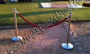 stanchion rental rent chrome stanchions with rope in scottsdale tempe
