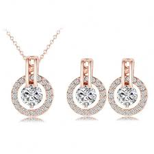 rose gold necklace earrings images Best real rose gold earrings photos 2017 blue maize jpg