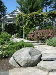 Gardening With Rocks by Natural Rock Garden Seating Carolyn U0027s Shade Gardens