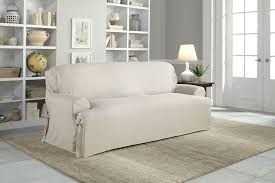 White Sofa Cover by Amazon Com Serta Relaxed Fit Duck Furniture Slipcover For T Sofa