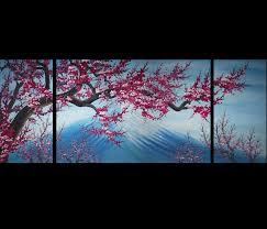 cherry home decor amazing cherry blossom canvas wall art modern abstract home decor