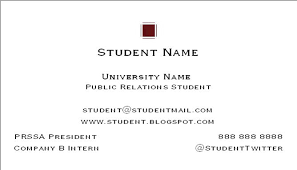 student business card how to create a college student business card career onward