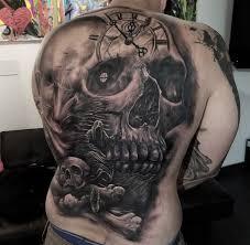 skull mens back best design ideas
