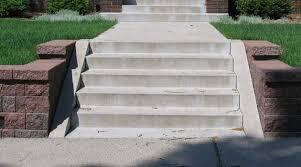 concrete steps lamere concrete and construction