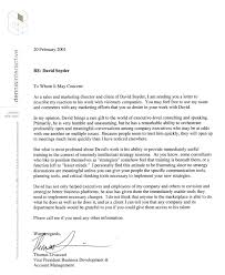 exlcusive sample reference letter sales marketing letter of