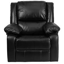 amazon com flash furniture harmony series black leather recliner