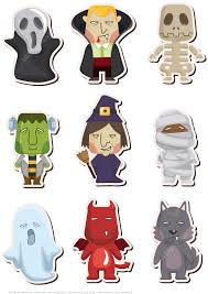 cartoon halloween monster printable stickers free printable