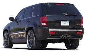 jeep grand cherokee srt8 cat back exhaust system round tips