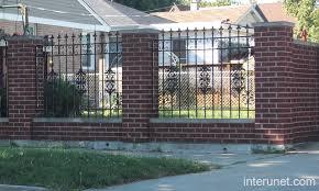 brick fence ornamental iron picture interunet