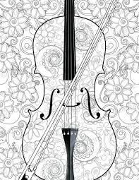 large guitar coloring page coloring pages guitar coloring pages new violin flowers printable