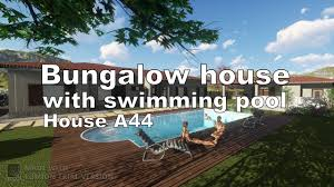 bungalow house design with swimming pool and barbeque lumion 7 0