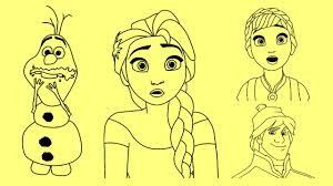 images of frozen characters to draw wallpaper images