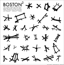 Copley Square Boston Map by Boston Squared Andy Woodruff