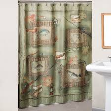Fishing Shower Curtains Fishing Shower Curtains And Hooks Set Walmart
