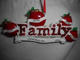 4 family ornament personalized christmas ornament family of 4