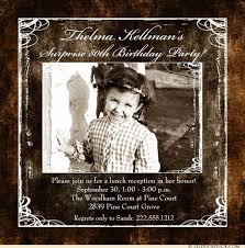 photo square birthday invitation cowpoke brown