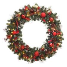 battery operated wreath 48 in battery operated accented artificial wreath with 60