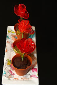 for the love of food flower pot muffins with candy roses