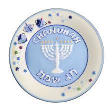 hanukkah plates set of 4 hanukkah plates