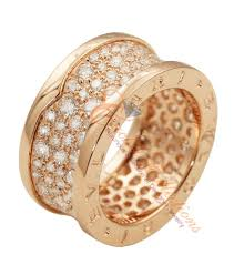 bvlgari rings online images Bvlgari b zero1 rose gold wide diamond ring an855553 cachet jpg