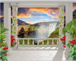 compare prices on interior wall garden online shopping buy low beibehang garden terrace waterfall landscape 3d background wall beautiful creative fashion interior papel de parede 3d