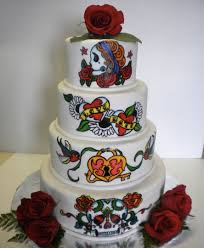 Halloween Wedding Cake by Sugar Skull Wedding Cake Awesome Cake If I Were To Do Something