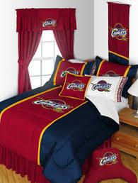 Nba Bed Set Cleveland Cavaliers Nba Bedroom Set With Curtains Option Bundle
