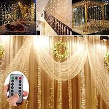 battery operated 300 led curtain string lights w