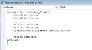 creating a vba login box for smart view effective essbase