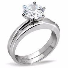 Wedding Rings Sets For Women by Stainless Steel Engagement And Wedding Ring Sets Ebay
