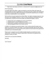 law enforcement resume cover letter samples of resumes