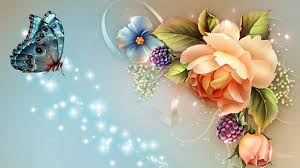 butterfly and flower hd wallpaper for desktop u0026 mobile