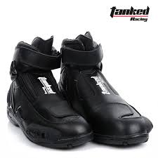 short black motorcycle boots 2017 new tanked raing leather moto racing boot professional short