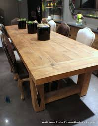 Large Wood Dining Room Table Solid Dark Antique Bleached Natural